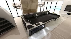u sofa xxl design sectional sofa matera xxl with led lights white black ebay