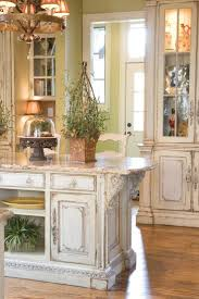 top cream distressed kitchen cabinets small home decoration ideas