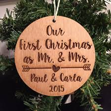 our as mr and mrs ornament personalized wood
