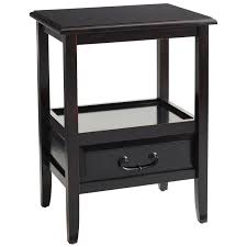 End Tables For Bedroom by Anywhere Rubbed Black End Table With Pull Handles Pier 1 Imports
