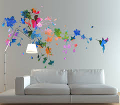home design wall art butterfly design floral circle wall art home design wall art hummingbird sticker floral watercolor wall homeartstickers best style
