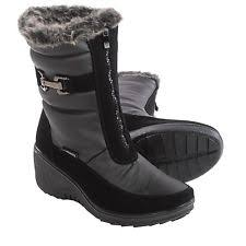 s wedge boots canada santana wynter aquatherm boots s 10 black winter wedge