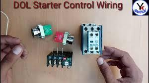 3 phase dol starter control wiring direct on line starter yk