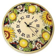 Italian Home Decor Accessories by Ceramiche D U0027arte Parrini Italian Ceramic Wall Clock Decorated