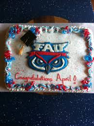 florida atlantic graduation cake cakecentral