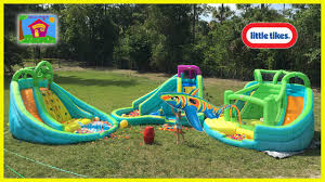 the biggest giant inflatable water slide littletikes waterpark