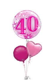 40th birthday balloons delivery pink 40th birthday balloons age balloon delivery balloons