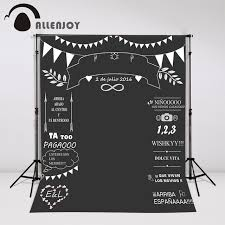 wedding backdrop banner aliexpress buy allenjoy custom wedding blackboard name date