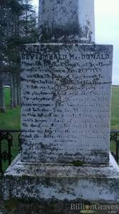 rev donald macdonald grave site billiongraves