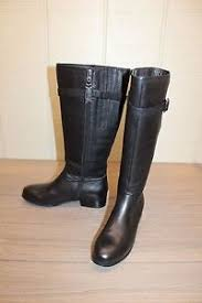 s boots calf size trotters lyra wide calf s boots black veg tumbled leather