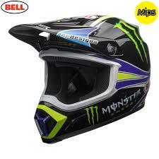 monster helmet motocross 2018 bell mx 9 mips helmet monster energy pro circuit replica 18 0