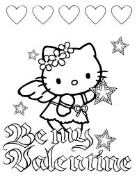 kitty hearts stars valentines coloring u0026