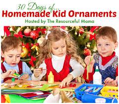 homemade keepsake christmas ornaments kidz activities