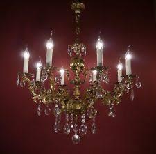 Vintage Crystal Chandeliers Vintage Brass Chandelier Ebay