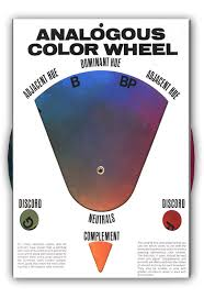 the original analogous color wheel hal reed art supplies
