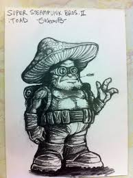 steampunk super mario bros 2 sketch toad by sweav on deviantart