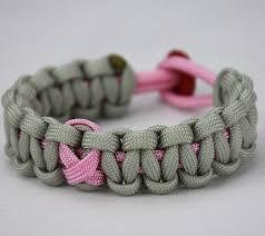 paracord bracelet images Soft pink and grey breast cancer support paracord bracelet w jpg