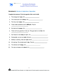 free worksheets opposites for grade 2 free math worksheets for