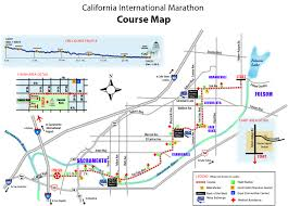 Boston Marathon Route Map by California International Marathon Coverage Capradio Org