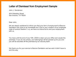 6 letter of employment termination delivery challan