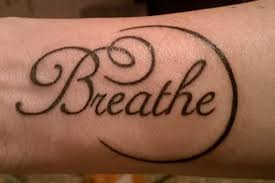 breathe lettering design for forearm by jen munday