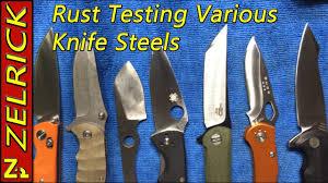 knife steel rust testing 1095 8cr13mov d2 420hc walmart and y