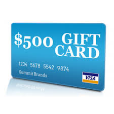 500 gift card 500 visa gift card chabad burbank auction