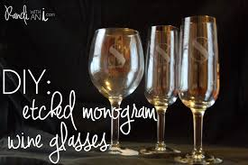 diy monogram wine glasses etched monogram wine glasses randi with an i