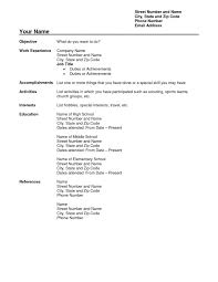 free blank resume templates resume free templates sle cover letters new blank