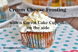 carrot cake cupcakes flour on my face