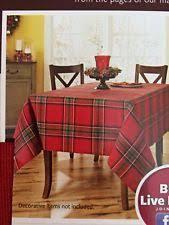 plaid tablecloth ebay