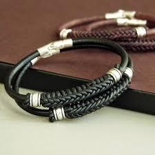 bracelet silver leather images Mens leather braided bracelets centerpieces bracelet ideas jpg