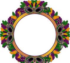 mardi gras frame barbara s creation freebies mardi gras cluster frame