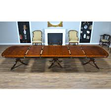 Mahogany Dining Room Furniture 15 Foot Mahogany Dining Table Three Pedestal Dining Table