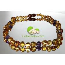 round beads necklace images Amber teething necklace and gemstones jpg