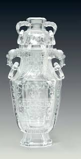 Antique Lead Crystal Vase Vintage Lead Crystal Cut Glass Vase Rre Unusul Lrge Rchistic