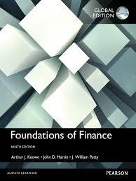 foundations of finance global edition john d martin j
