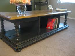 coffee table awesome black distressed coffee table design