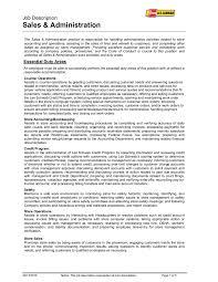 Bookkeeper Duties And Responsibilities Resume Resume Job Description For Sales Associate Free Resume Example