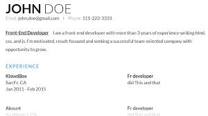 Front End Developer Sample Resume by New Web Design And Development Resources 12 October Edition