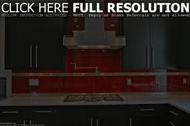 full size of flooringpainted cement floors archaicawful picture the kitchen features a deep red glass tile engineered quartz within red glass tile kitchen backsplash