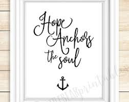 Anchor For The Soul Etsy - hope anchors the soul etsy