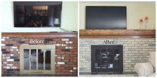 staining brick fireplace binhminh decoration
