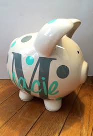 Baptism Piggy Bank Personalized Piggy Bank By Doodledarlingdesigns On Etsy Savanah