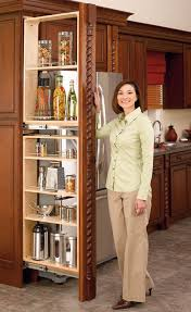 pull out tall kitchen cabinets rev a shelf filler pullout organizer with wood adjustable shelves