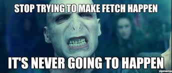 Stop Trying To Make Fetch Happen Meme - voldemort stop trying to make fetch happen it s never going to