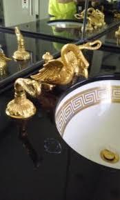 Swan Faucet Gold Sherle Wagner Vtg Gold 24k Figural Swan Faucet Fixtures Designer