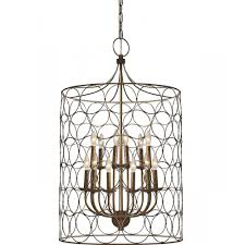 23 inch uptown steel gold circle birdcage candle style chandelier