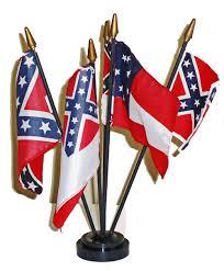 Flag Confederate Boxed Confederate Desktop Flag Set