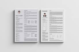 Two Page Resume Header Clean Resume Cv Hudson Resume Templates Creative Market